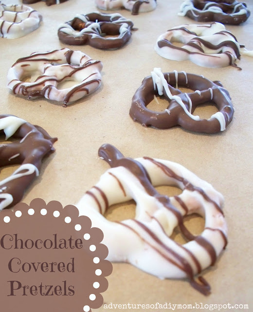 made these chocolate covered pretzels for Christmas, but I think ...