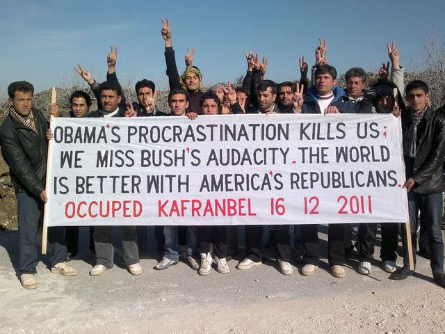 popularity obama bush arab