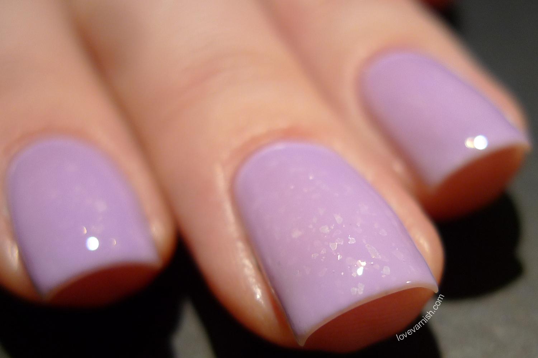 Dance Legend Mist Way Be Mine purple lavender flakie nail polish