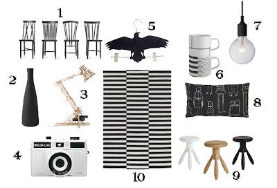 Black&white con un tocco di legno