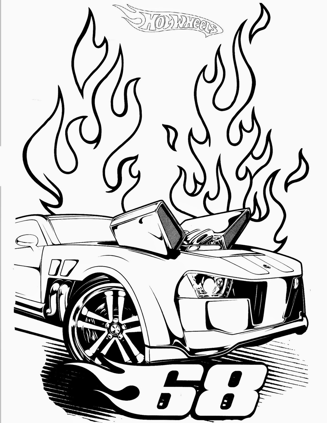 Hot wheels racing league hot wheels coloring pages set 3 for Wheel coloring page