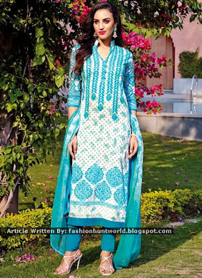 Red Net And Georgette Straight Pant / Turquoise n White Indian Designer Suit