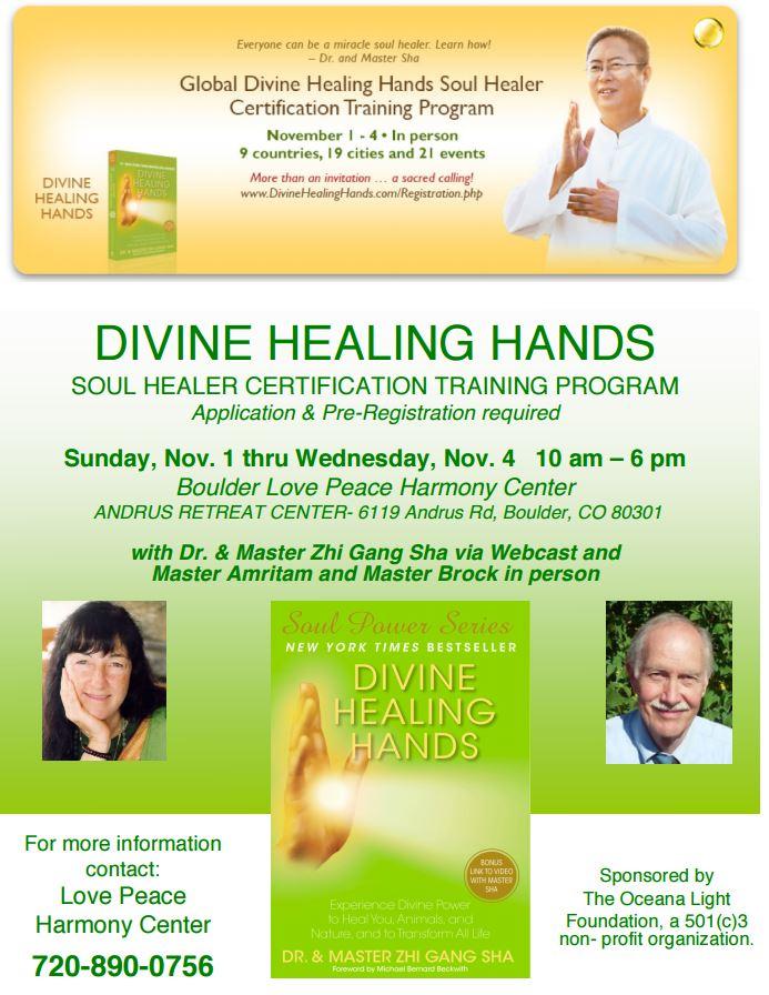 Divine Healing Hands Nov 1-4