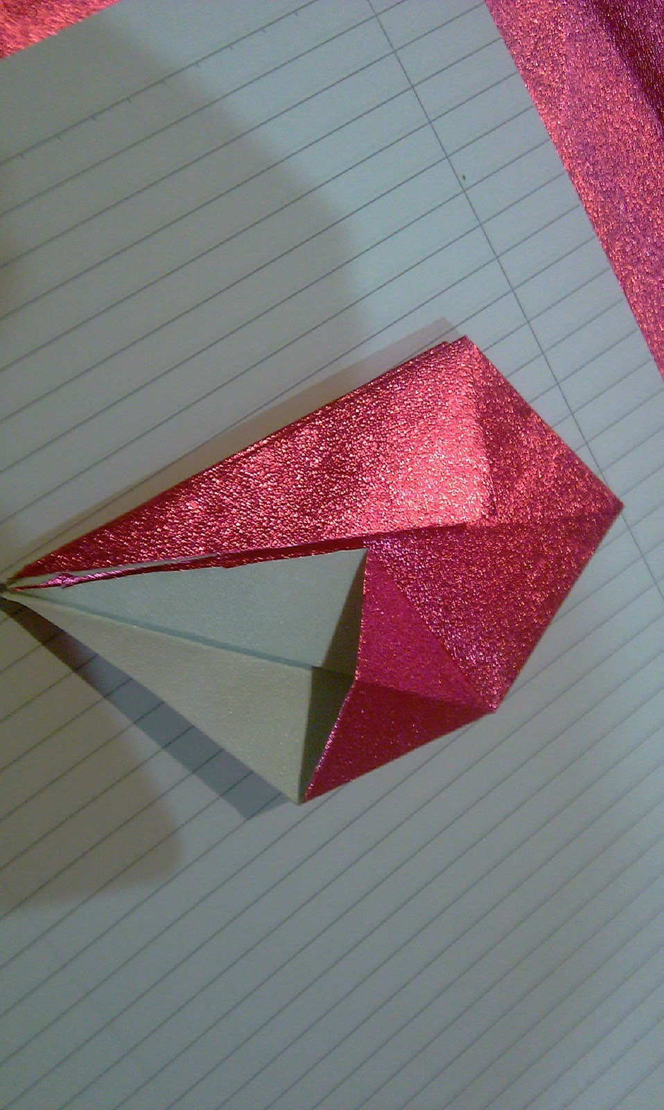 Cara-cara Membuat Origami Kotak (Bintang)   Bahagia itu milik kita...