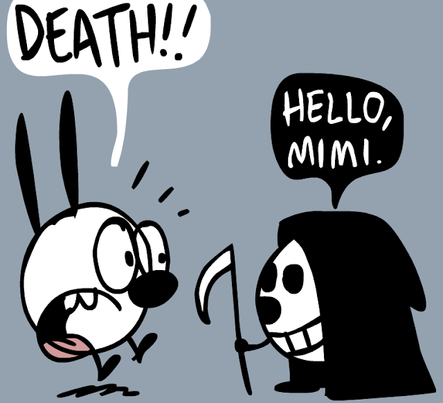 Mimi and Eunice:  DEATH!! --  Hello, Mimi.