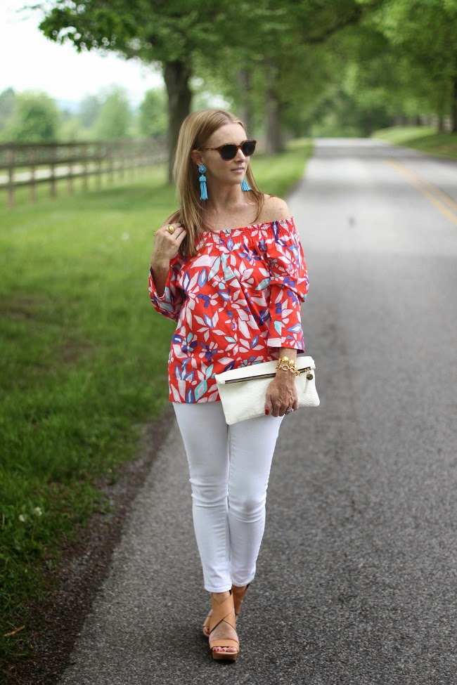 DVF floral tops, what are pump shoes
