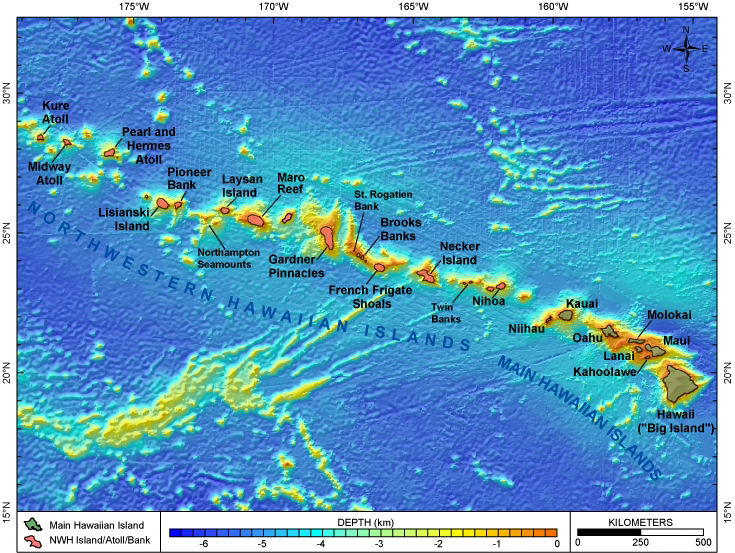 Volcanic Coral Islands In The South West Pacific