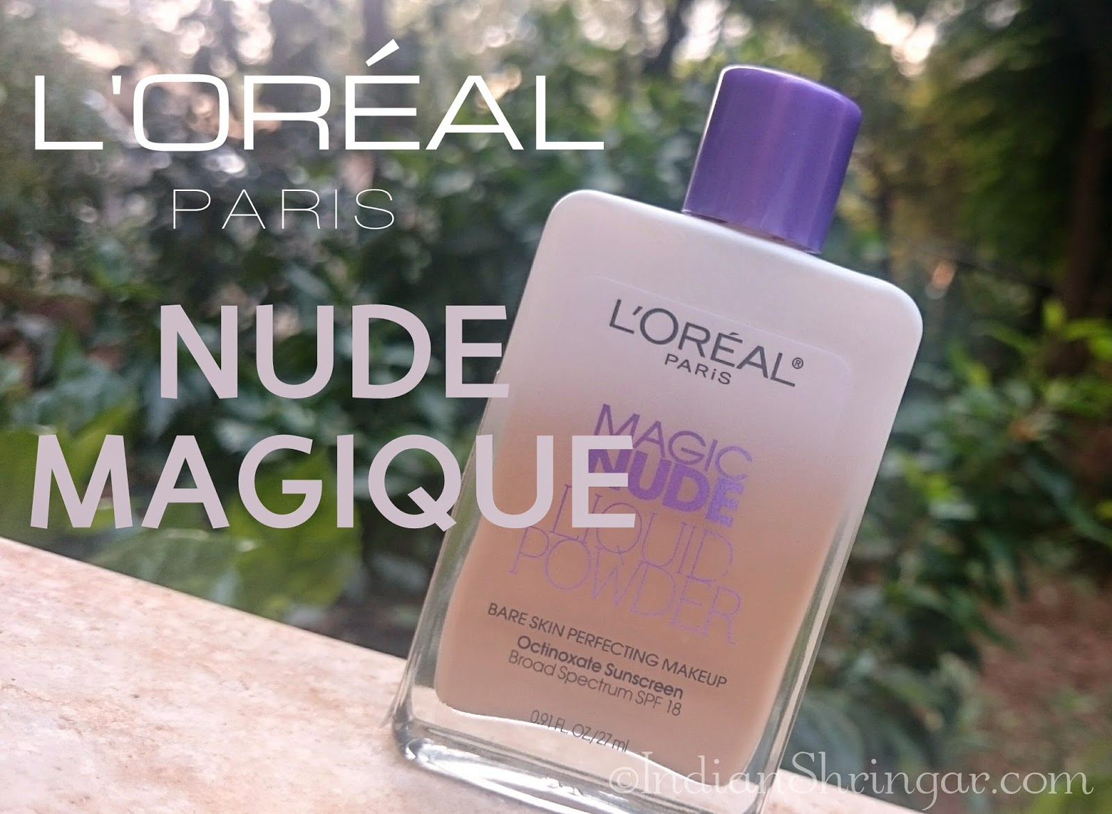 L'Oreal Paris Nude Magique Foundation in 320 Natural Beige - review and swatch