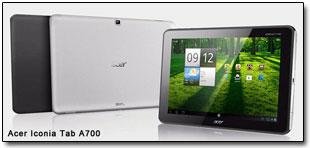 Планшет Acer Iconia Tab A700 уже можно обновить до Android 4.1.