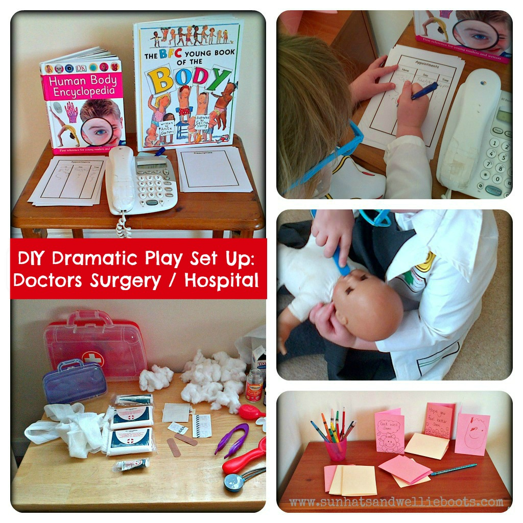 Sun Hats & Wellie Boots: DIY Dramatic Play Set Up - Doctors Surgery