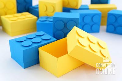 lego lembranca personalizada caixinha