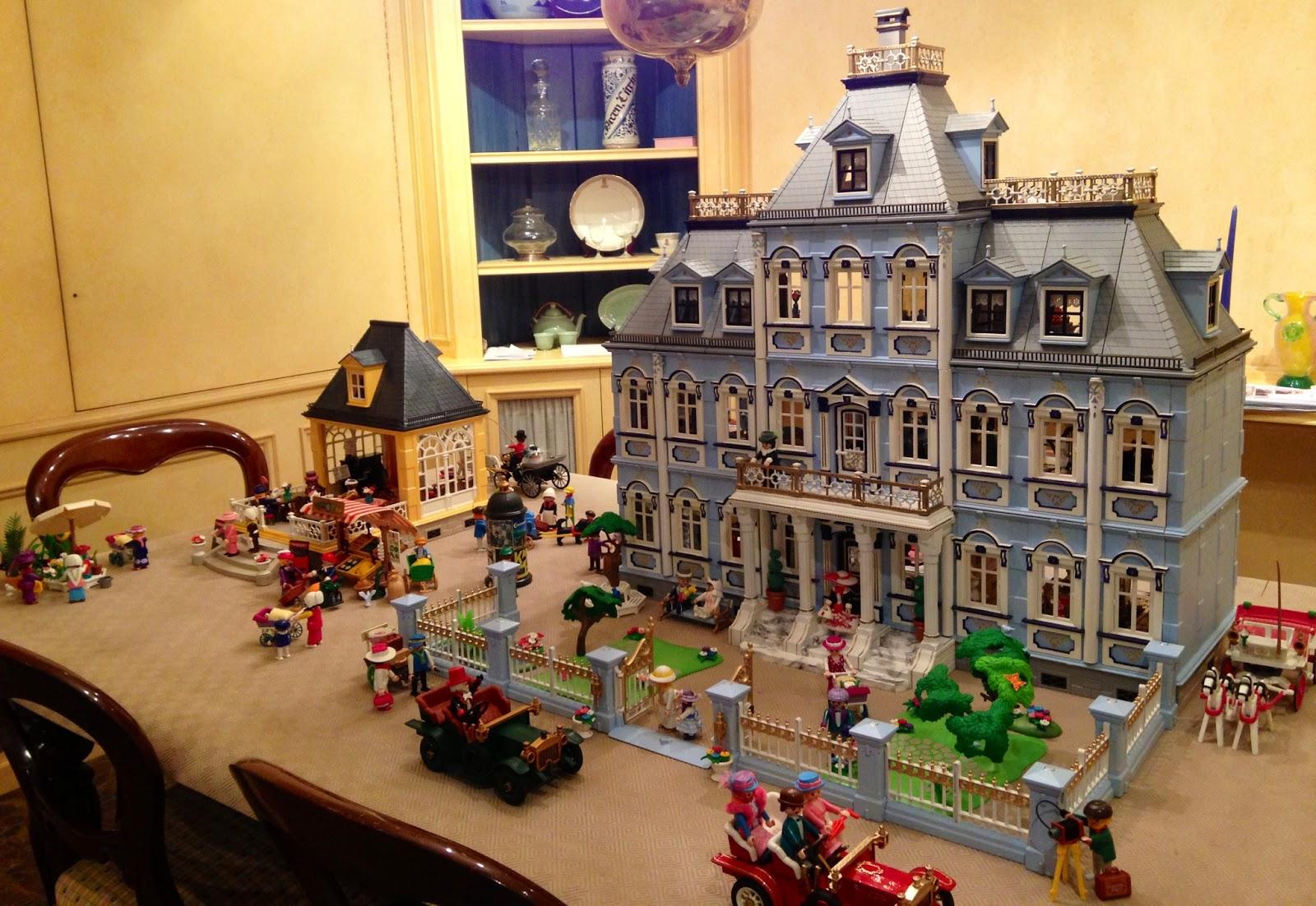 Blue mansion new home emma j 39 s playmobil for Mansion de playmobil