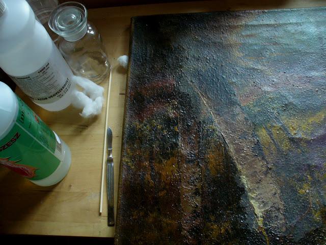 Festmény lakkozása