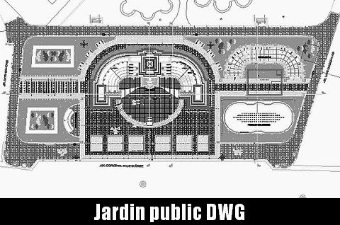 Jardin public parc plan autocad t l charger dwg for Application plan jardin
