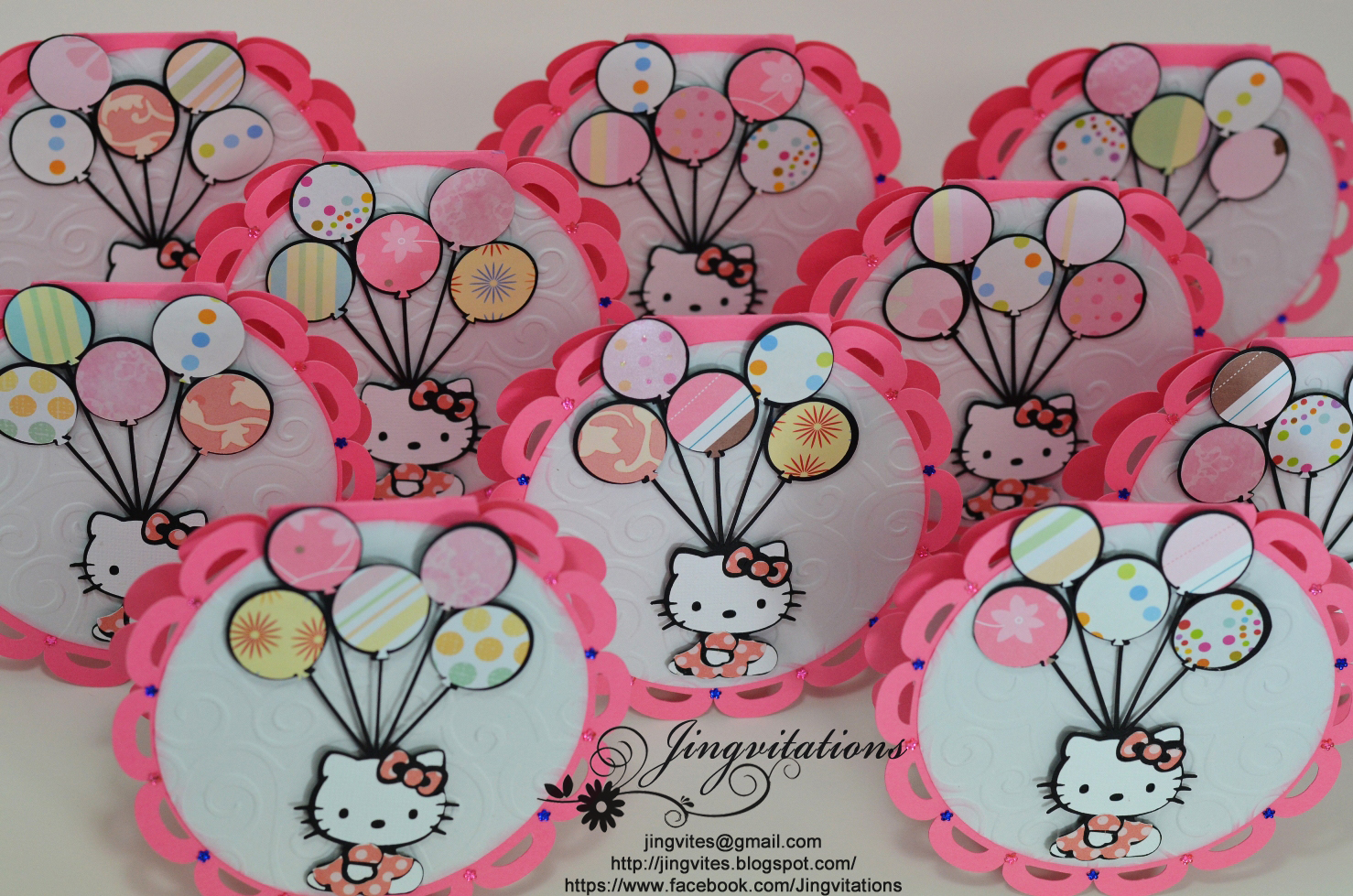 Birthday and Baby Shower Invitations: Sanrio Hello Kitty Handmade