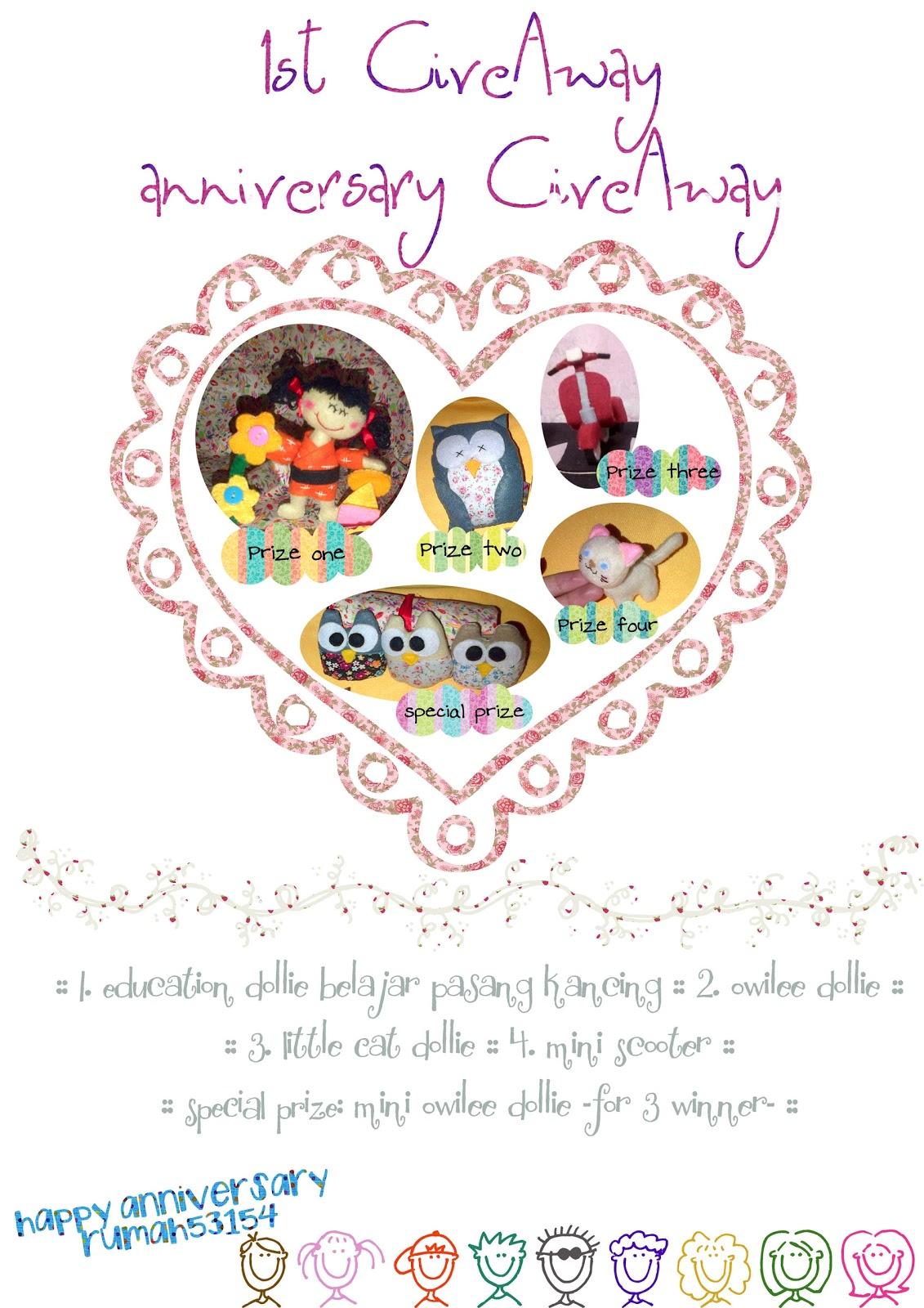 1st GiveAway [Anniversary GiveAway] ~ Mitha Juniar's Blog