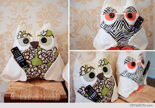 DIY TV Remote Owl Pillow Pattern