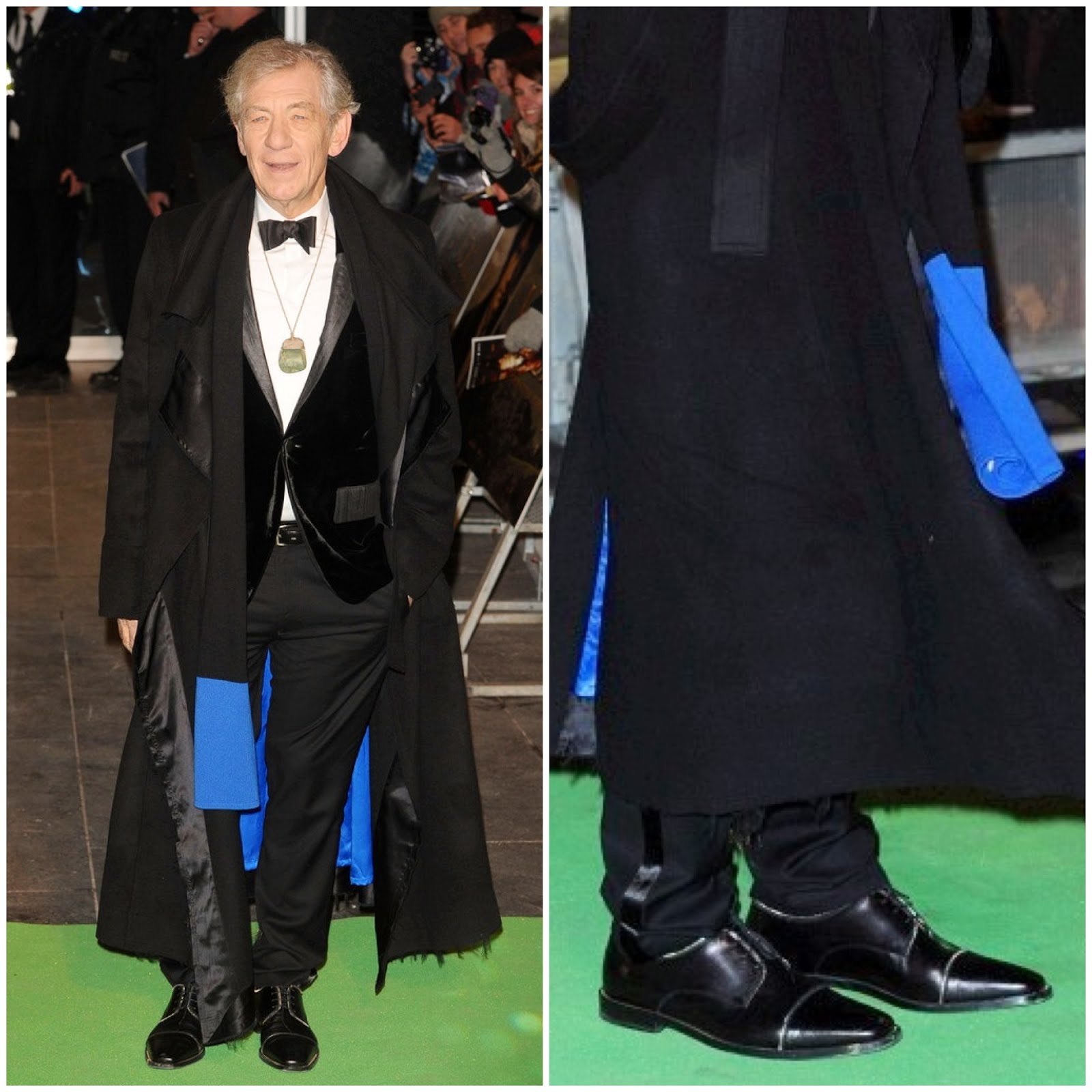 00O00 London Menswear Blog Sir Ian McKellen's Christian Louboutin 'Bruno' shoes - London premiere of 'The Hobbit: An Unexpected Journey'