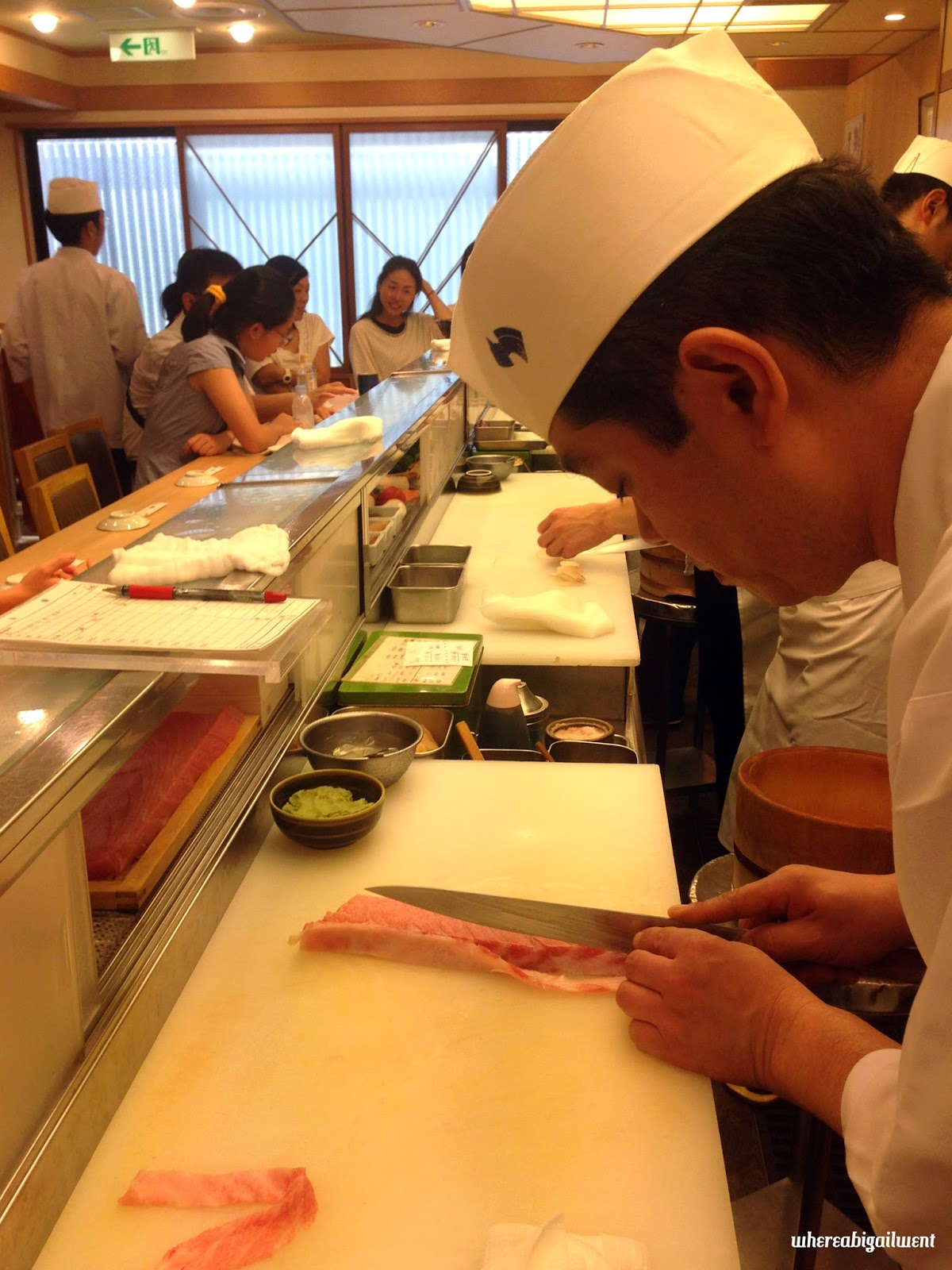 Omakase Sushi at Tsukiji Fish Market