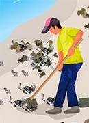 Прибрежная уборка - Онлайн игра для девочек