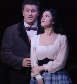 Angela Gheorghiu and Piotr Beczała (screenshot from San Francisco Opera preview, 2008)