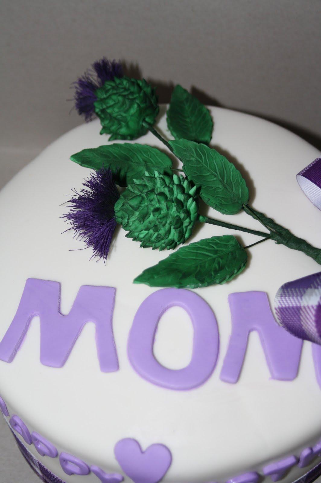 Scottish Thistle Happy Birthday Cake Scooters Cake Creations