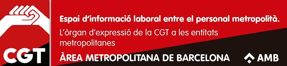 ÀREA METROPOLITANA DE BARCELONA. CGT