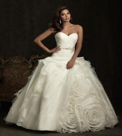 Another Wow Factor Wedding Dress That Caught My Attention Is Allure Couture Style C178 The Feather Detail Soft Yet Striking And Slightly Off Center