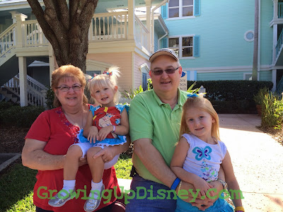 growing up disney, grandparents and children at Disney's Old Key West