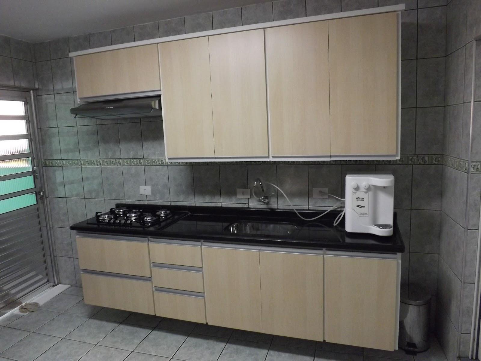 Armario de Cozinha Cozinha Acabamento em MDF Maple Bilbao #438878 1600 1200