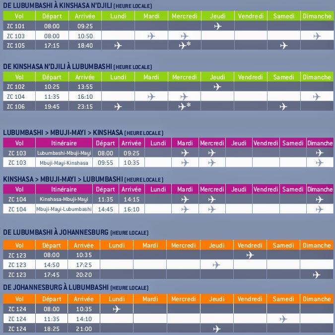 The Timetablist: Korongo Weekly Flight Schedule, 2013
