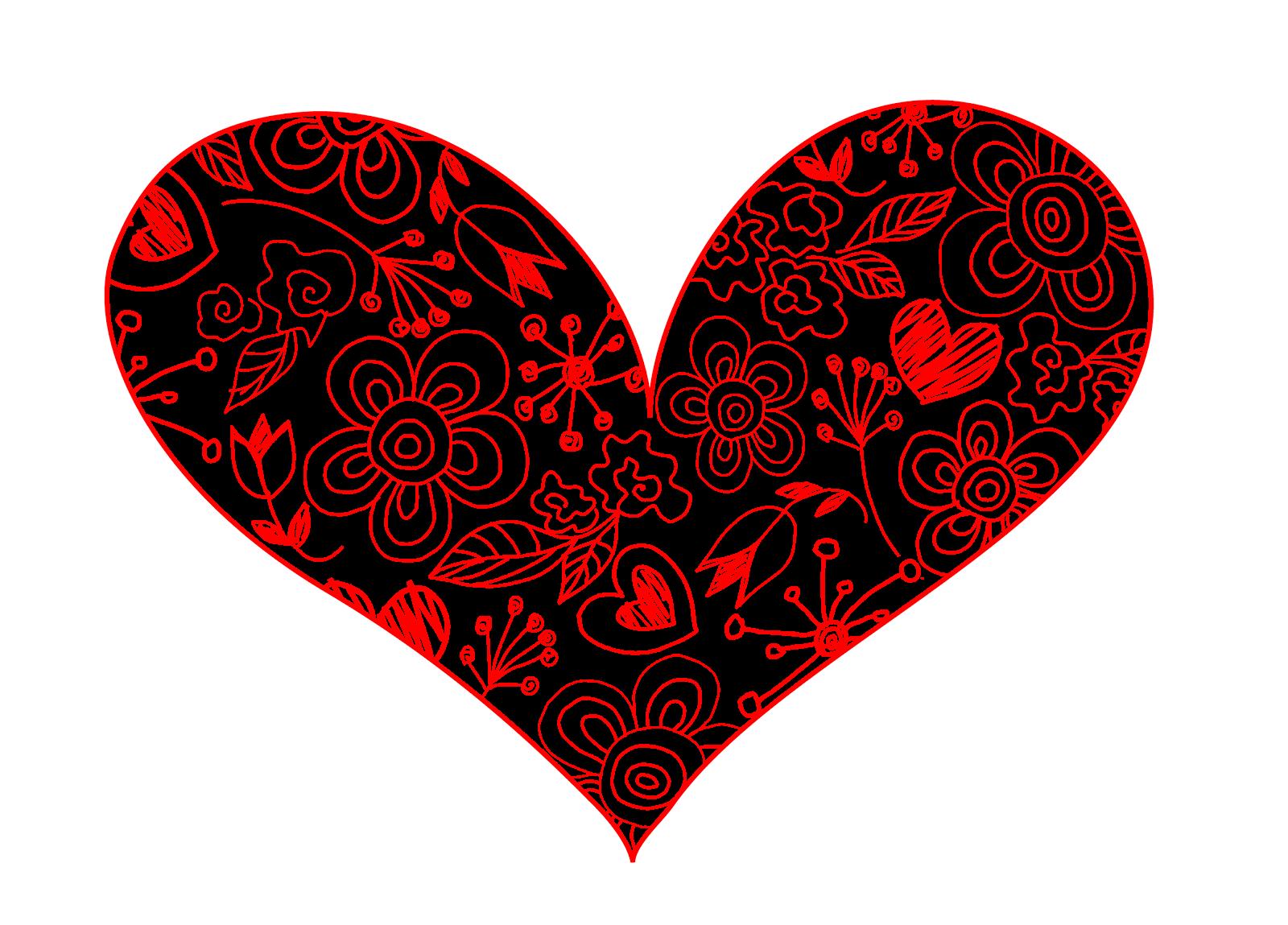 Line Art Valentine : Have a heart make some art