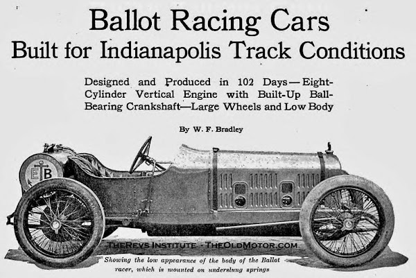 1919 Ballot team racing cars