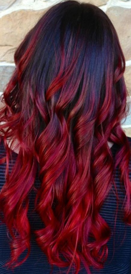 40 bold beautiful bright red hair color shades hairstyles red2band2bblack2bombre urmus Images