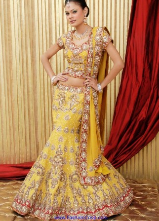Yellow-Bridal-Lehenga-Choli