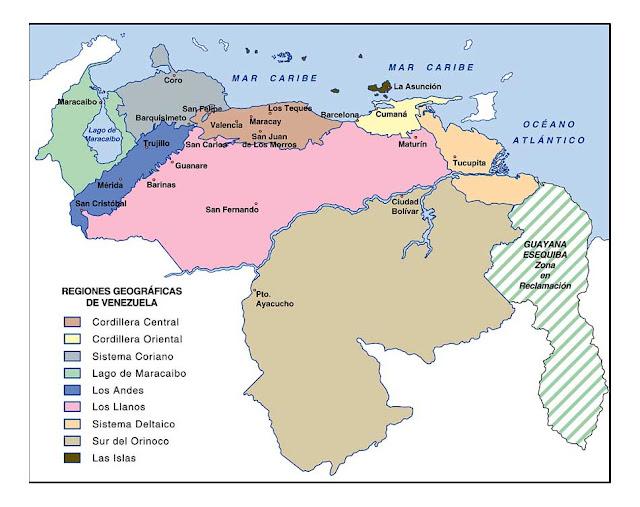 mapa politico territorial de venezuela