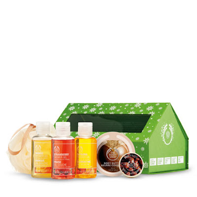The Body Shop, The Body Shop Schoolhouse Gift Box, The Body Shop shower gel, The Body Shop body wash, The Body Shop pouf, The Body Shop gift set, The Body Shop body butter, The Body Shop lip butter, lip balm, shower gel, body wash, lotion, moisturizer, body cream, gift set, pouf