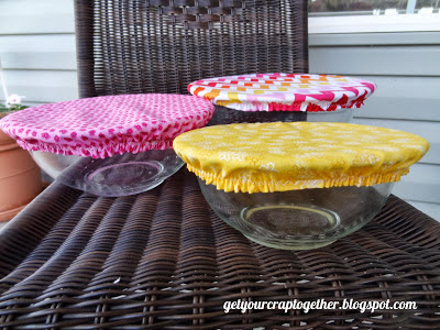 DIY Salad Bowl Covers Tutorial