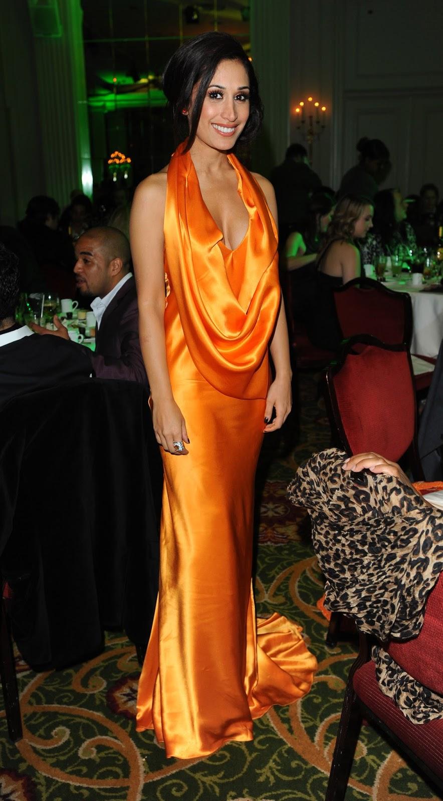 Ladies In Satin Blouses Preeya Kalidas Yellow Orange