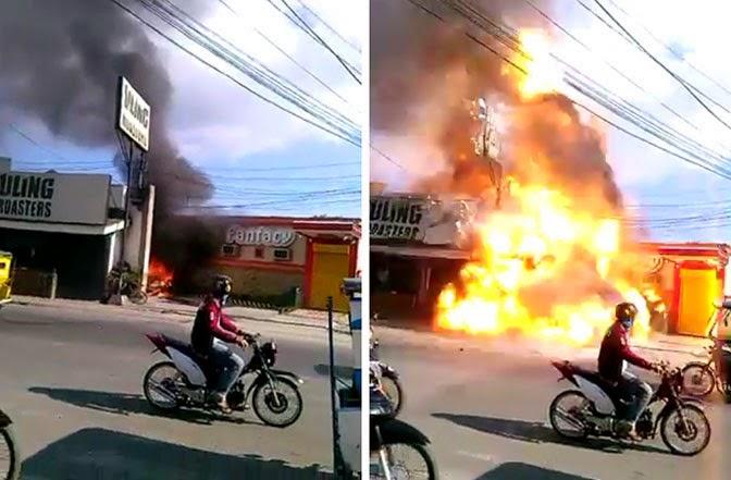 Zamboanga bombing incident Live Footage