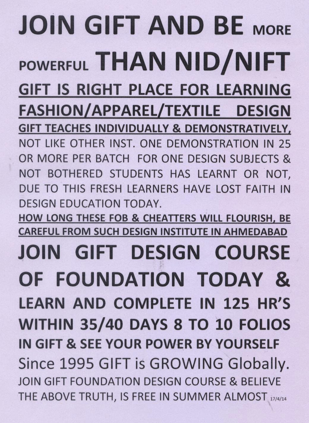 GIFT IS RIGHT PLACE FOR LEARNING FASHION/APPAREL/TEXTILE DESIGN GIFT  TEACHES INDIVIDUALLY U0026 DEMONSTRATIVELY, NOT LIKE OTHER INST. ONE  DEMONSTRATION IN 25 OR ...