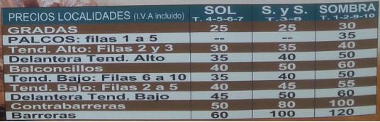 precio localidades corrida de toros brihuega 2015