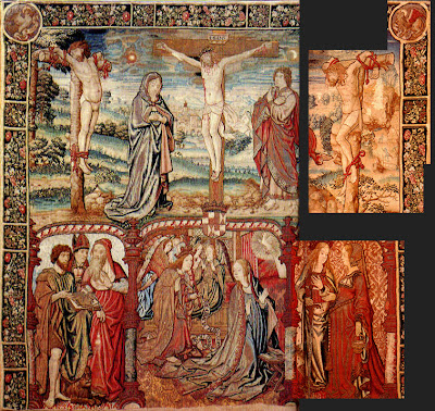 Flemish Crucifixion Tapestry one objectivist's art object of the day