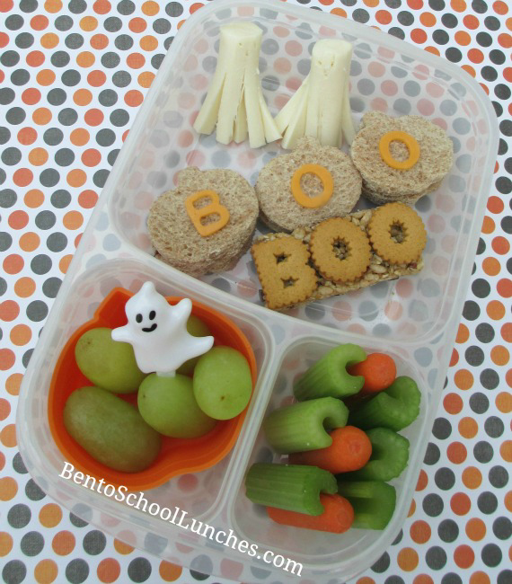 Boo-tiful Halloween Lunch. BentoSchoolLunches.com