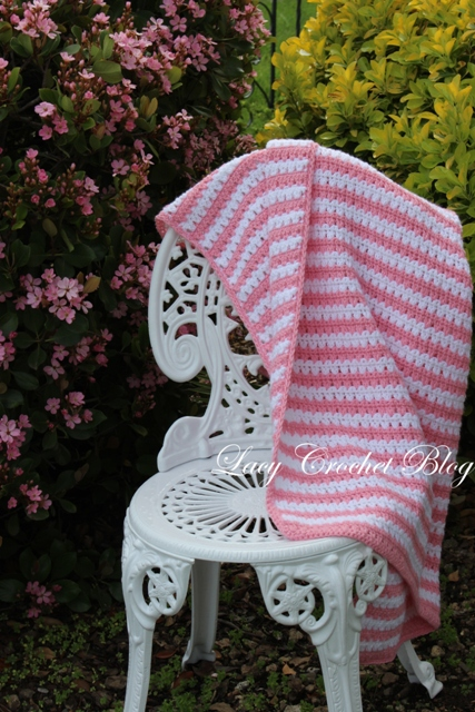 ... Crochet: Garden Stripes Baby Blanket or Possibly Lapghan, Free Pattern