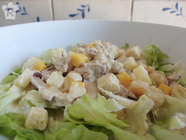 Ensalada César (con salsa casera)