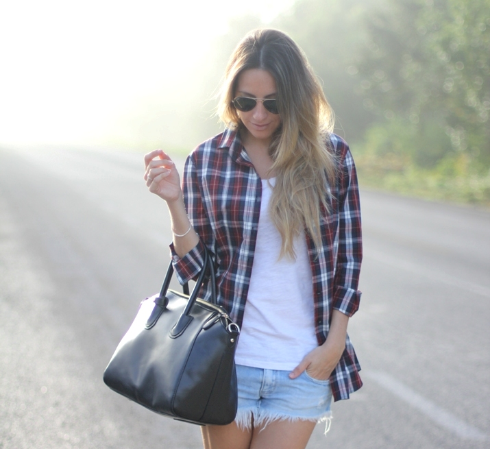 How to combine plaid shirts