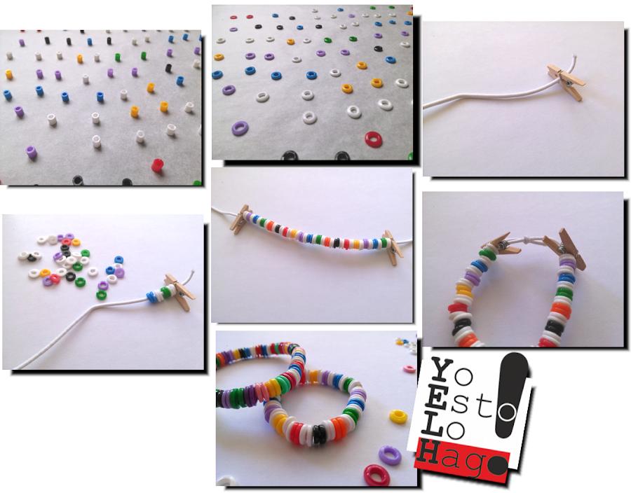 cómo hacer pulseras con hama beads o pyssla