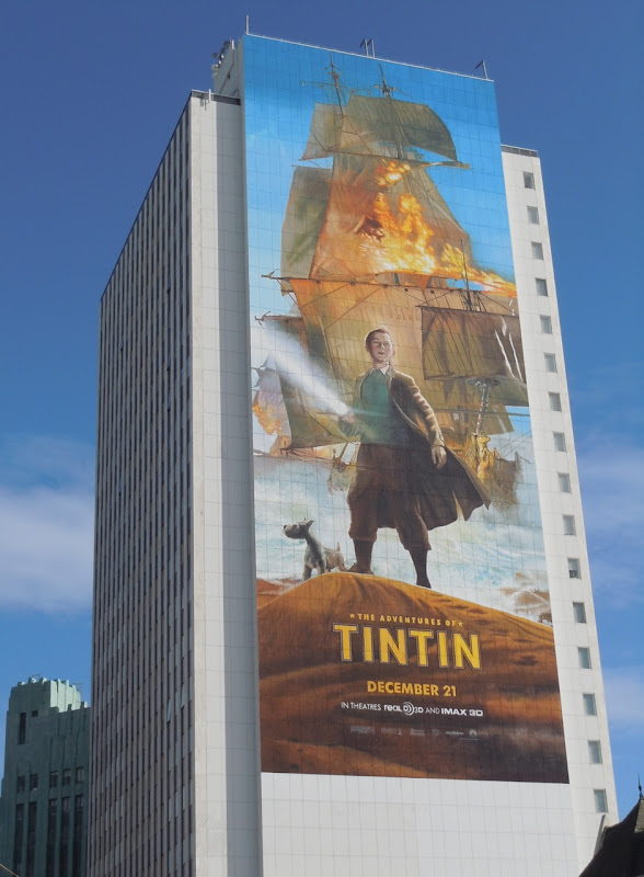 Giant Adventures of Tintin billboard