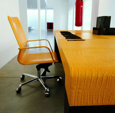 Unique Furniture on Yellowish Unique Office Furniture   Desk And Chair